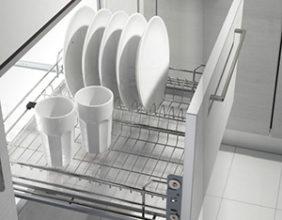 Выдвижная сушка для посуды