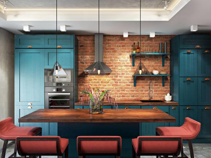 Кухня Лофт mix